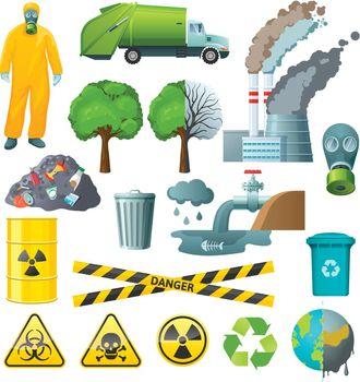 Environmental Pollution Elements Set