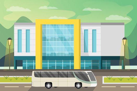 Shopping Center Orthogonal Illustration