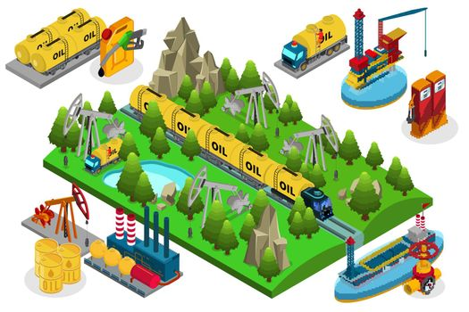 Isometric Oil Production Composition
