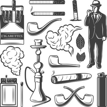Vintage Smoking Elements Collection