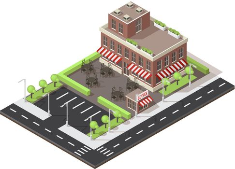 Cafe Building Isometric Layout