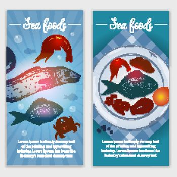 Seafood Hand Drawn Banners