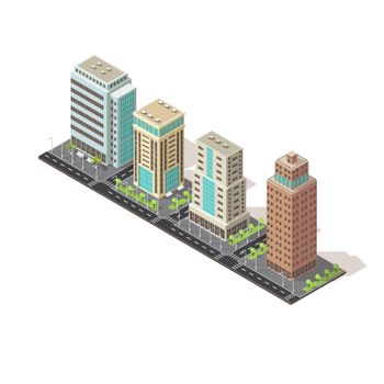 Office Buildings Isometric Design