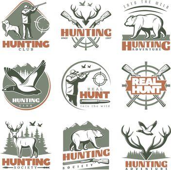 Real Hunt Emblem Set
