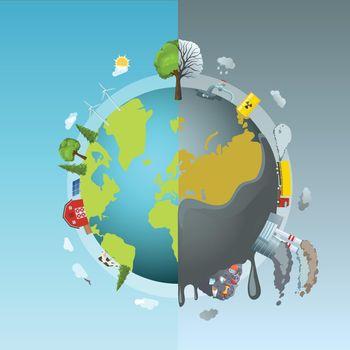 Environmental Pollution Round Concept