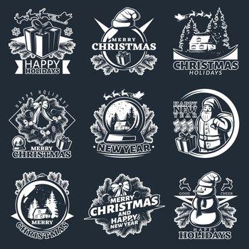 Merry Christmas Emblem Set