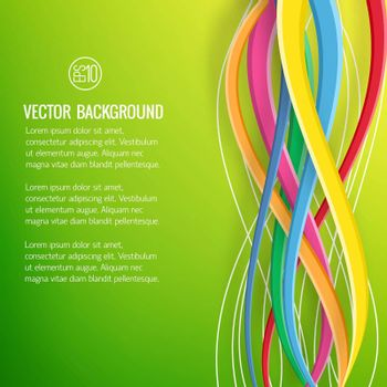 Abstract Bright Geometric Template
