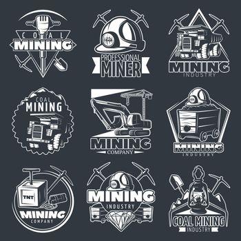 Mining Company Emblems Set
