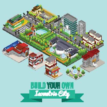 Isometric City Creation Concept