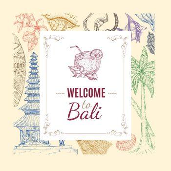 Hand Drawn Balinese Background