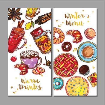 Food Drink Menu Banner Set
