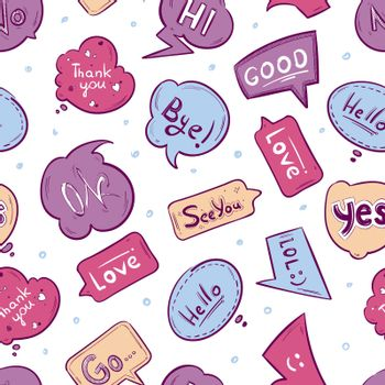 Vector seamless pattern with speech bubbles