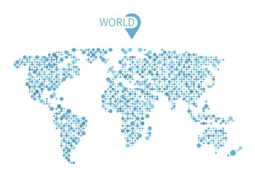 Vector world map from circles for infographic