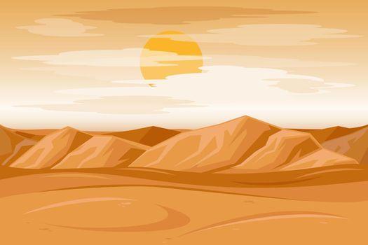 Desert mountains sandstone background vector illustration