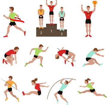 Sport athlete winner vector illustration