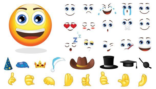 Cartoon Emotion Creation Elements Set