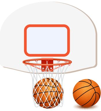 Colored Basketball Composition