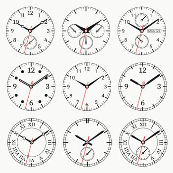 Clock watch collection