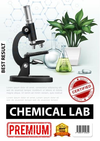 Realistic Chemical Laboratory Poster