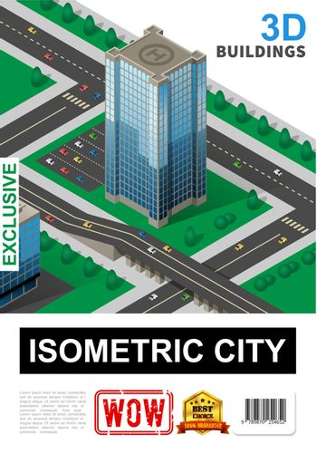 Isometric Cityscape Poster