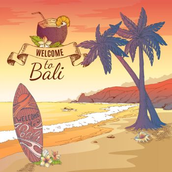 Welcome To Bali Background