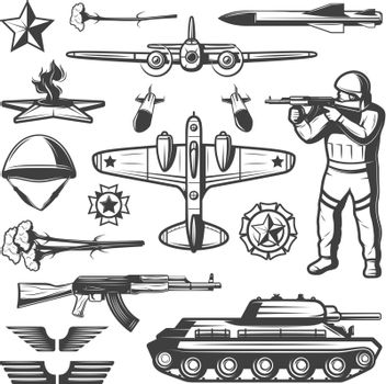 Vintage Military Elements Collection