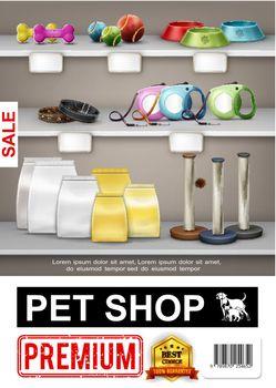 Realistic Pet Shop Poster
