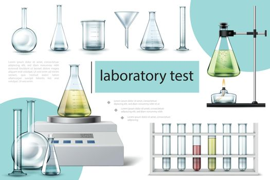 Realistic Laboratory Tools Composition