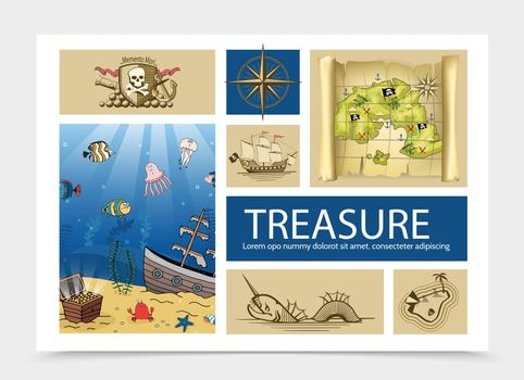 Hand Drawn Treasure Composition