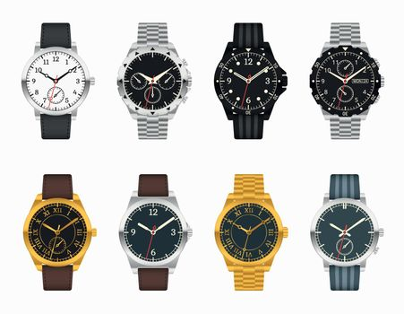 Vector watch set. Expensive classic watches