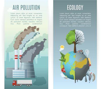 Environmental Pollution Vertical Banners