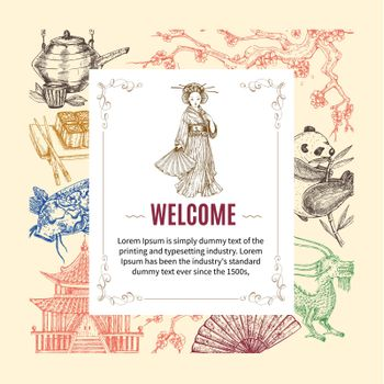 Welcome To Asia Invitation