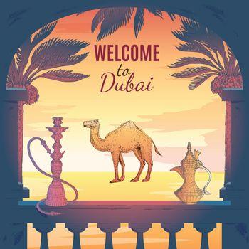 Welcome To Dubai Background