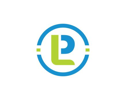 lp letter logo business vector