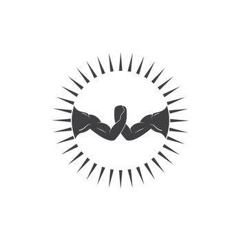 arm wrestling vecor icon illustration design