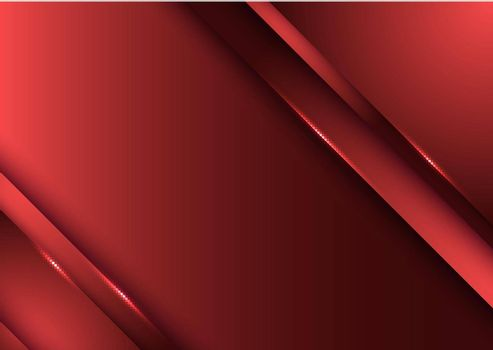 Template design abstract red gradient stripes overlap layer background with lighting