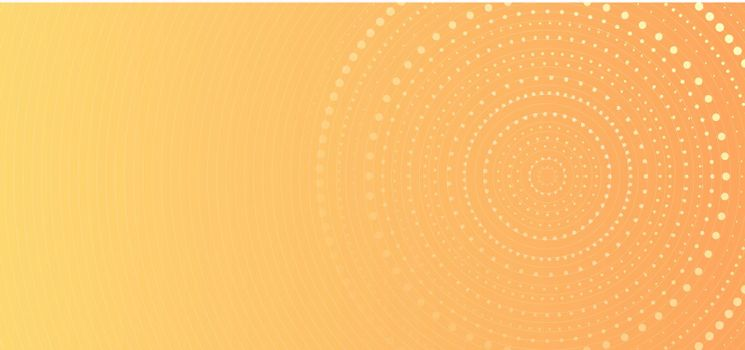 Banner web template abstract yellow gradient circles dots halftone pattern background