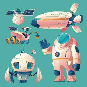 Vector clipart with objects for space exploration