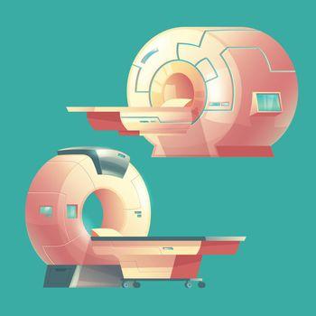 Vector cartoon MRI scanner, magnetic resonance imaging