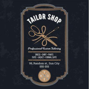 Vector tailor emblem, signage