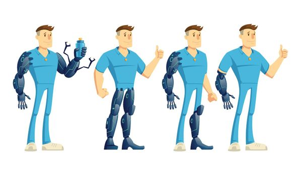 Future robotic hand and leg prosthesis vector