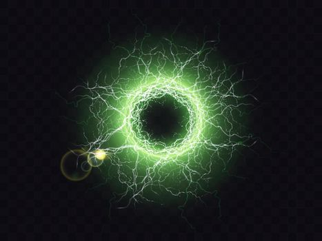 Powerful electrical discharge magical energy flash