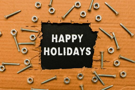 Conceptual caption Happy Holidays. Internet Concept observance of the Christmas spirit lasting for a week Smart Office Plans Construction Development And Planning Fresh Start