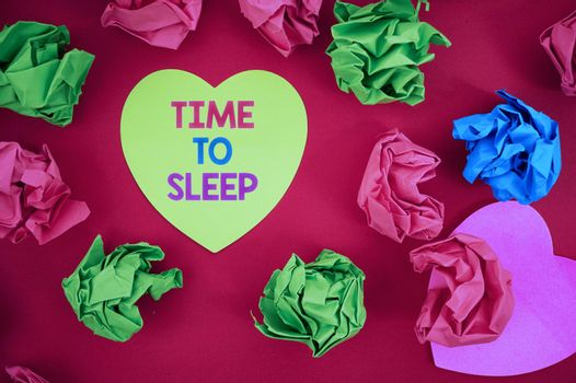 Inspiration showing sign Time To Sleep. Business idea a natural period of slumber or to be in state of inactivity Inspirational business technology concept with copy space