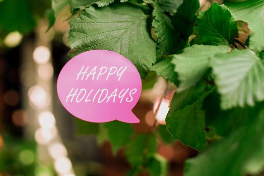 Handwriting text Happy Holidays. Business concept observance of the Christmas spirit lasting for a week Thinking New Bright Ideas Renewing Creativity And Inspiration