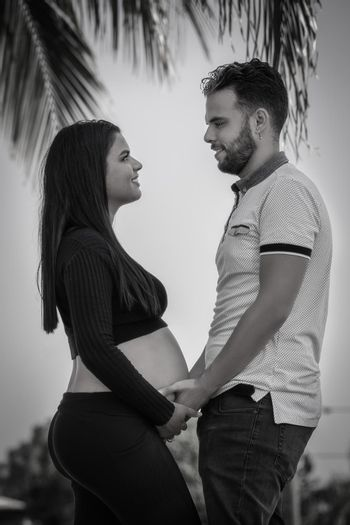 Couple expecting a child