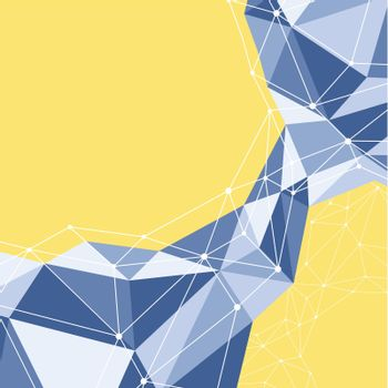 Abstract geometric polygon background