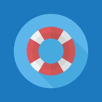 Swimming ring flat icon
