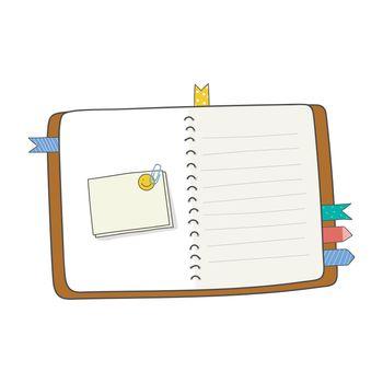 Blank open journal