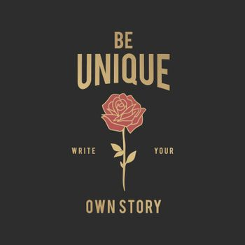 Be unique illustration